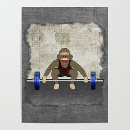 Sock Monkey Bodybuilder Poster