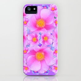 Lilac Purple & Pink Roses iPhone Case