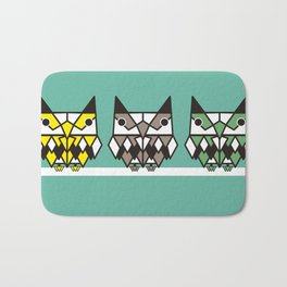 Simetric owl Bath Mat