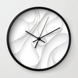 Paper Waves Wall Clock
