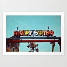 happy swing Art Print