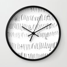 Cussed in Lines Wall Clock