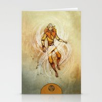 aang Stationery Cards featuring Air by Madalyn McLeod