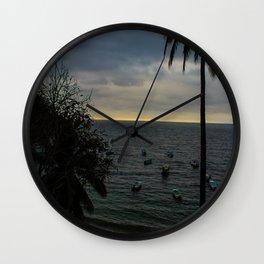 Dreamy Mexican Beach Sunset Wall Clock