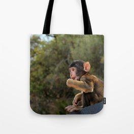 wide-eyed monkey Tote Bag