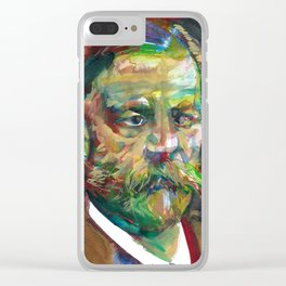 SIGMUND FREUD - watercolor portrait.2 Clear iPhone Case