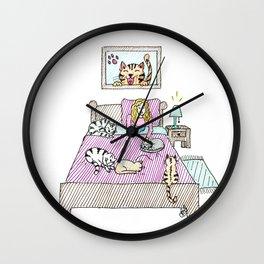 Cats bedtime Wall Clock