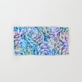 Rainbow succulents Hand & Bath Towel