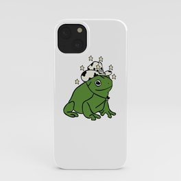 Frog with a cowboy hat iPhone Case