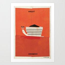 04_snail Art Print