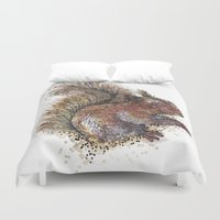 beaver Duvet Covers featuring Squirrel Beaver by Faustine BLESSON
