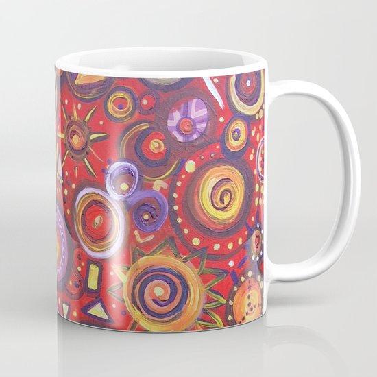 Red Square Abstract Painting Mug