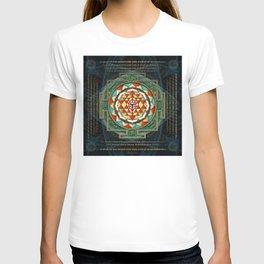 Maha Lakshmi (Laxmi) Mantra & Shri Yantra - Wealth Giving T-shirt