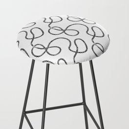 bicycle chain repeat pattern Bar Stool