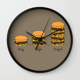 Burger explained. Burg. Burger. Burgest. Wall Clock