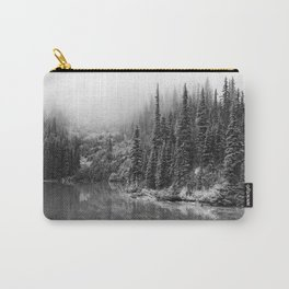 Forest on the River Black and White Carry-All Pouch