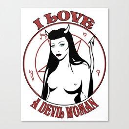 A Devil Woman Canvas Print