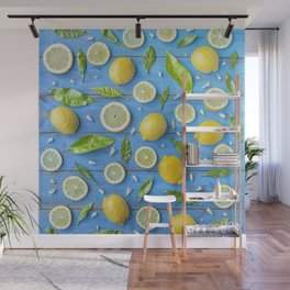 Fruits and leaves pattern (32) Wall Mural