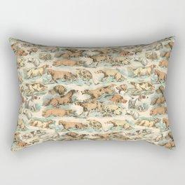 CRAZY BIRDDOGS IN THE FIELD Rectangular Pillow