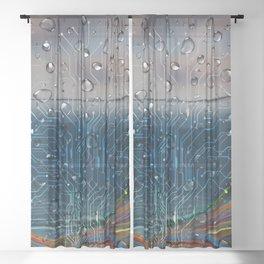 Ocean of Wires-Global Network Sheer Curtain
