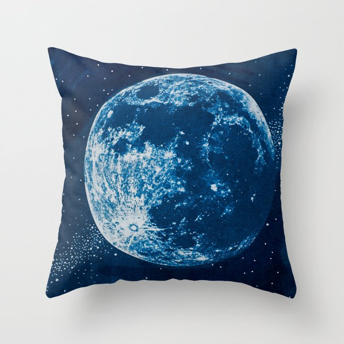 Pleasant Big Blue Moon Throw Pillow Ocoug Best Dining Table And Chair Ideas Images Ocougorg