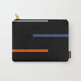 Abstract Minimal Retro Stripes Vinyasa Carry-All Pouch