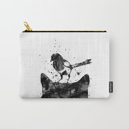 Peeking cat and Magpie Carry-All Pouch