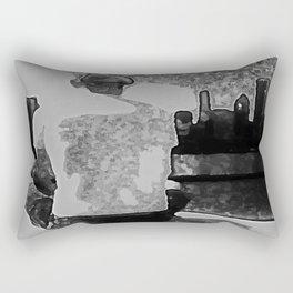 the thinker now Rectangular Pillow