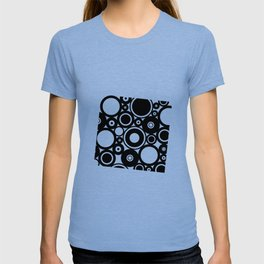Retro Black White Circles Pop Art T-shirt