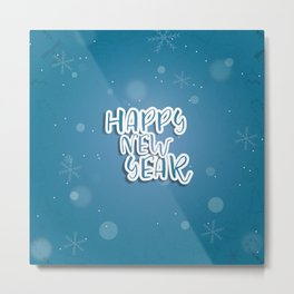 Happy new year sale sign banner card Metal Print