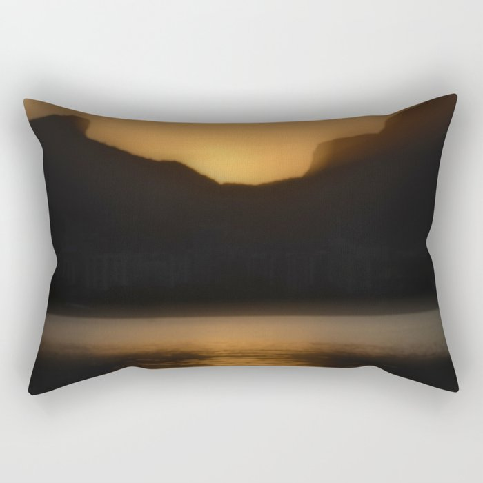 Melting gold evening Rectangular Pillow