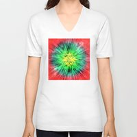 tie dye V-neck T-shirts featuring Colorful Vintage Tie Dye by Phil Perkins