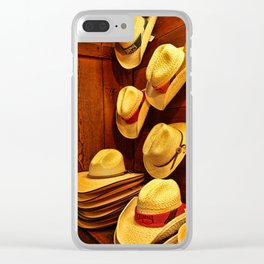 Luckenbach Hats Clear iPhone Case