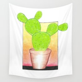 Prickly Pear Puesta Del Sol Wall Tapestry
