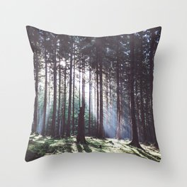 Magic forest - Landscape and Nature Photography Throw Pillow