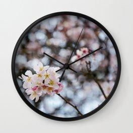 Bokeh Bouquet Wall Clock