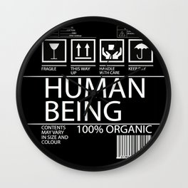 Human Food Wall Clock