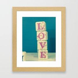 Take A Chance On Love Framed Art Print