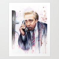 nicolas cage Art Prints featuring Nicolas Cage by Olechka