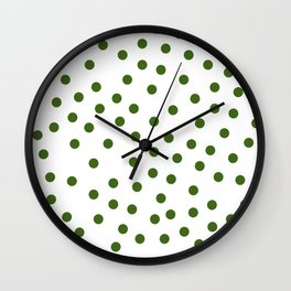 Simply Dots in Jungle Green Wall Clock