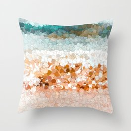 On the beach abstract painting 2 Throw Pillow