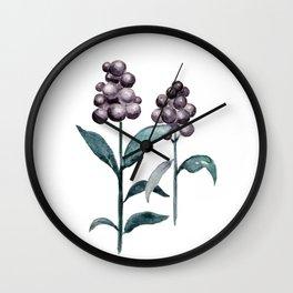 Watercolor Privet Fruit Berries Wall Clock