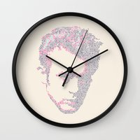 james franco Wall Clocks featuring James by Viktor Hertz