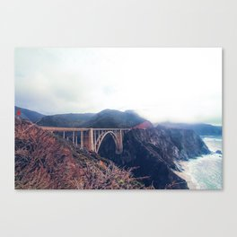 beautiful landscape at Bixby bridge, Big Sur, California, USA Canvas Print