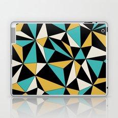 Geo - blue, orange, black and white. Laptop & iPad Skin