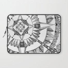Vacuoles - Black and White Laptop Sleeve