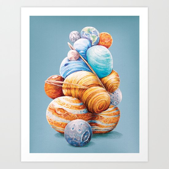 Planetary Pile-Up Art Print