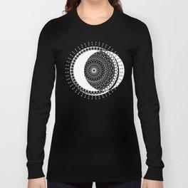 Moon Mandala (White) Long Sleeve T-shirt