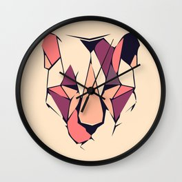 Flat Origami Lioness Wall Clock