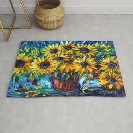 Sunflowers In A Vase Rug